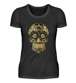 SpreeRocker® - Golden Skull - Damenshirt-16
