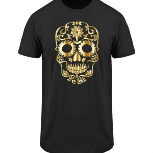 SpreeRocker® - Golden Skull 1 - Herren Long Tee-16