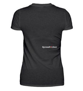 SpreeRocker® - Golden Skull 1 - Damenshirt-16