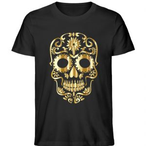 SpreeRocker® - Golden Skull 1 - Herren Premium Organic Shirt-16