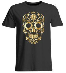 SpreeRocker® - Golden Skull 1 - Übergrößenshirt-639