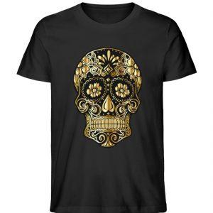 SpreeRocker® - Golden Skull - Herren Premium Organic Shirt-16