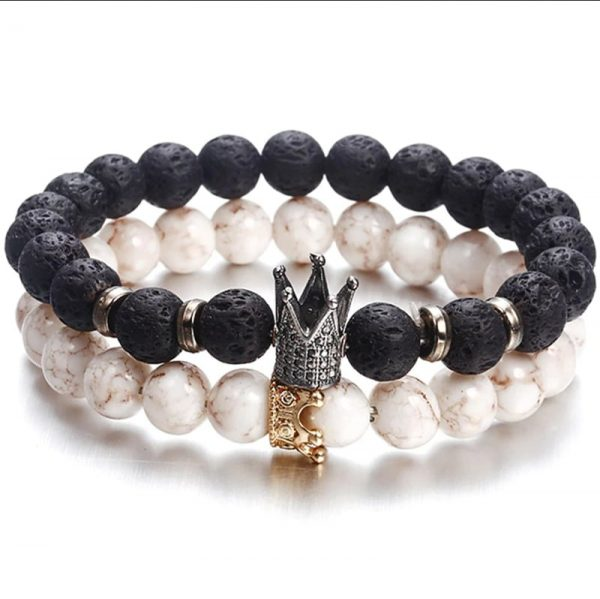 Lavastein Armband King + Queen