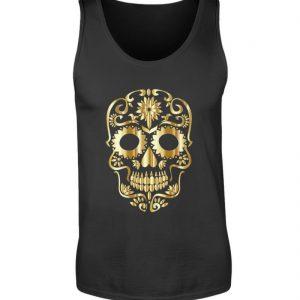 SpreeRocker® - Golden Skull 1 - Herren Tanktop-16