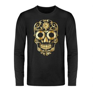 SpreeRocker® - Golden Skull 1 - Unisex Long Sleeve T-Shirt-16