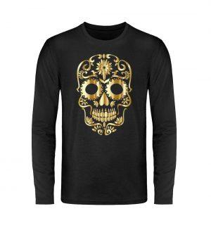 SpreeRocker® - Golden Skull 1 - Unisex Long Sleeve T-Shirt-16