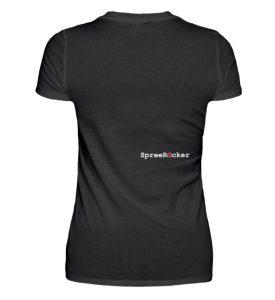 SpreeRocker® - Golden Skull 1 - V-Neck Damenshirt-16