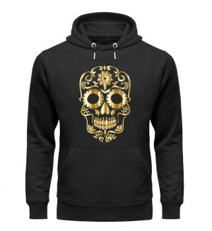 SpreeRocker® - Golden Skull 1 - Unisex Organic Hoodie-16