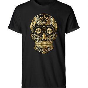 SpreeRocker® - Golden Skull - Herren RollUp Shirt-16