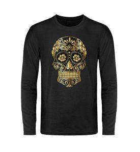 SpreeRocker® - Golden Skull - Unisex Long Sleeve T-Shirt-16
