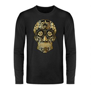 SpreeRocker® - Golden Skull - Unisex Long Sleeve T-Shirt-16
