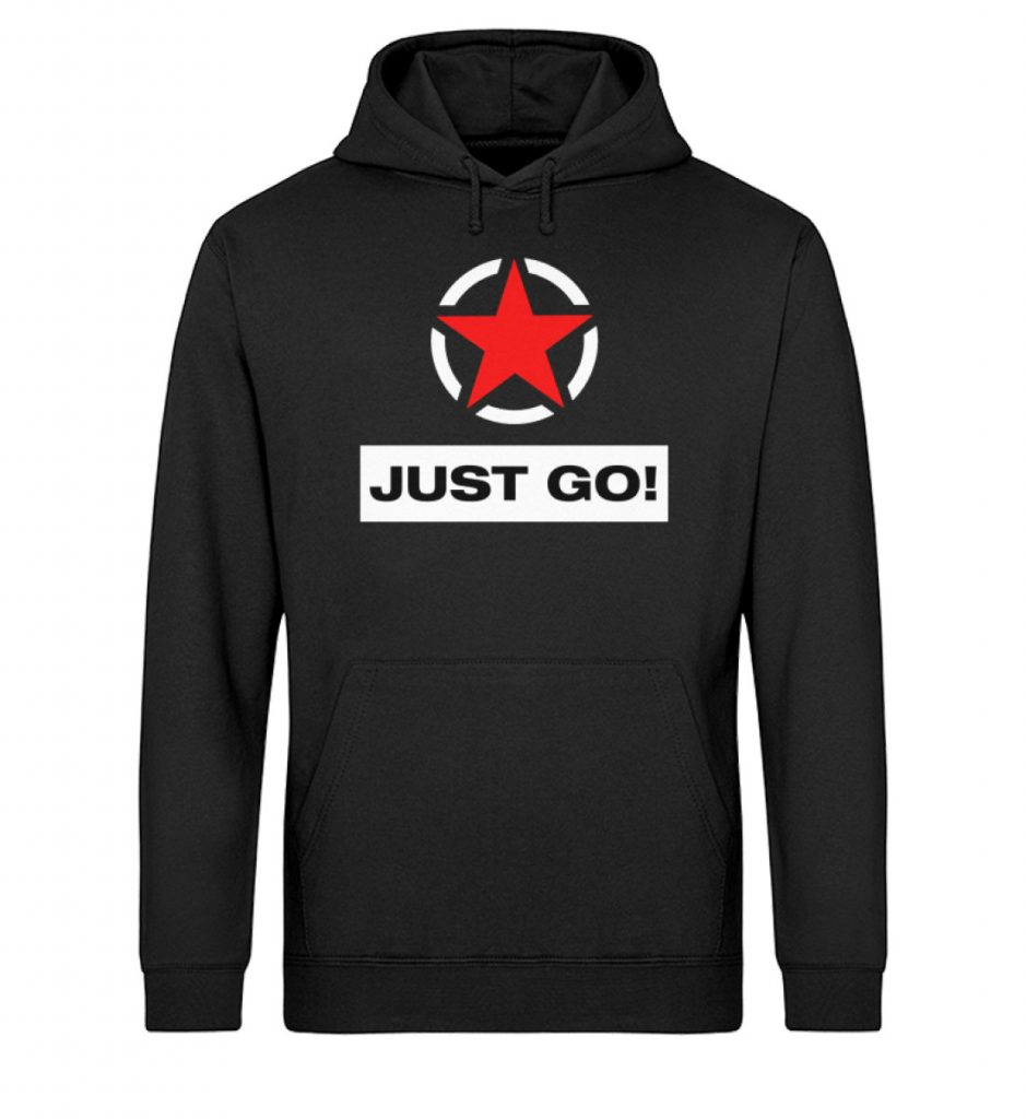 JUST GO! Red Star - Unisex Organic Hoodie-16
