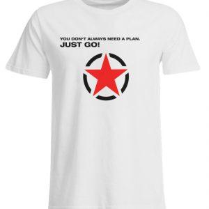 JUST GO1 Black Red Star - Übergrößenshirt-3