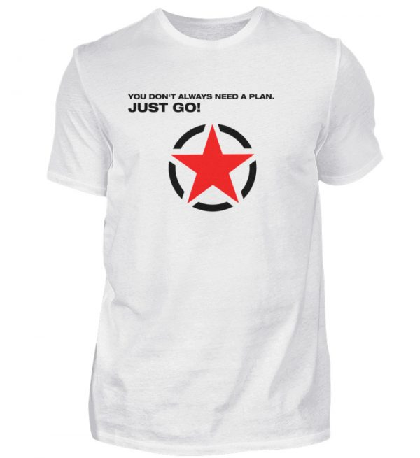 JUST GO1 Black Red Star - Herren Shirt-3