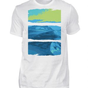Nature Green-Blue - Herren Shirt-3
