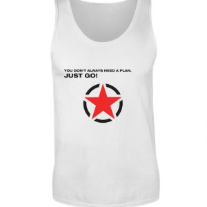 JUST GO1 Black Red Star - Herren Tanktop-3