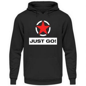 JUST GO! Red Star - Unisex Kapuzenpullover Hoodie-1624