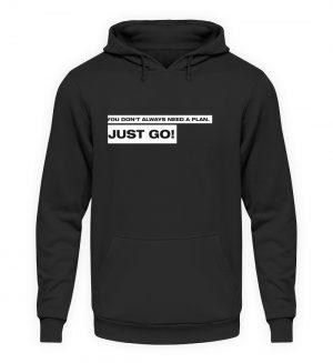 JUST GO! White - Unisex Kapuzenpullover Hoodie-1624