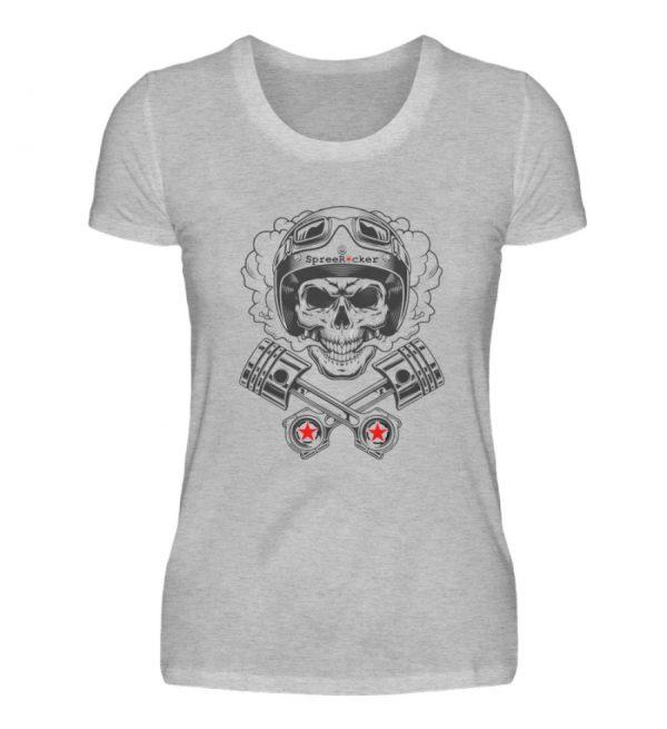 SpreeRocker® - Motorcycle Skull - Damenshirt-17