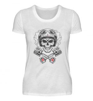 SpreeRocker® - Motorcycle Skull - Damenshirt-3