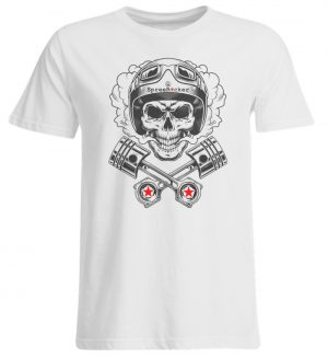 SpreeRocker® - Motorcycle Skull - Übergrößenshirt-3