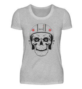 SpreeRocker® - Biker Skull - Damenshirt-17