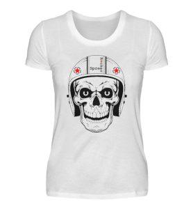 SpreeRocker® - Biker Skull - Damenshirt-3