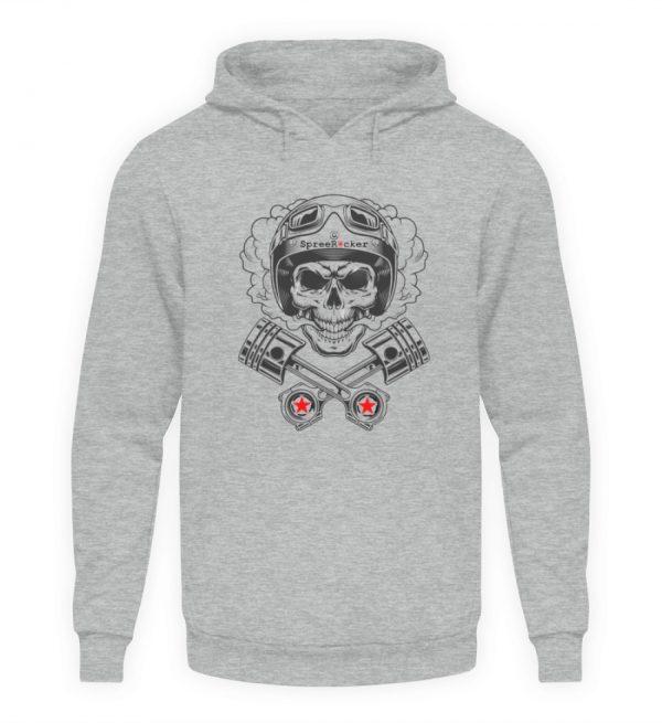 SpreeRocker® - Motorcycle Skull - Unisex Kapuzenpullover Hoodie-6807