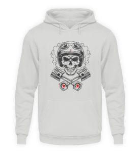 SpreeRocker® - Motorcycle Skull - Unisex Kapuzenpullover Hoodie-23