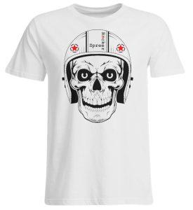 SpreeRocker® - Biker Skull - Übergrößenshirt-3