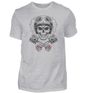 SpreeRocker® - Motorcycle Skull - Herren Shirt-17