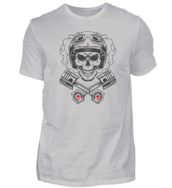 SpreeRocker® - Motorcycle Skull - Herren Shirt-1157