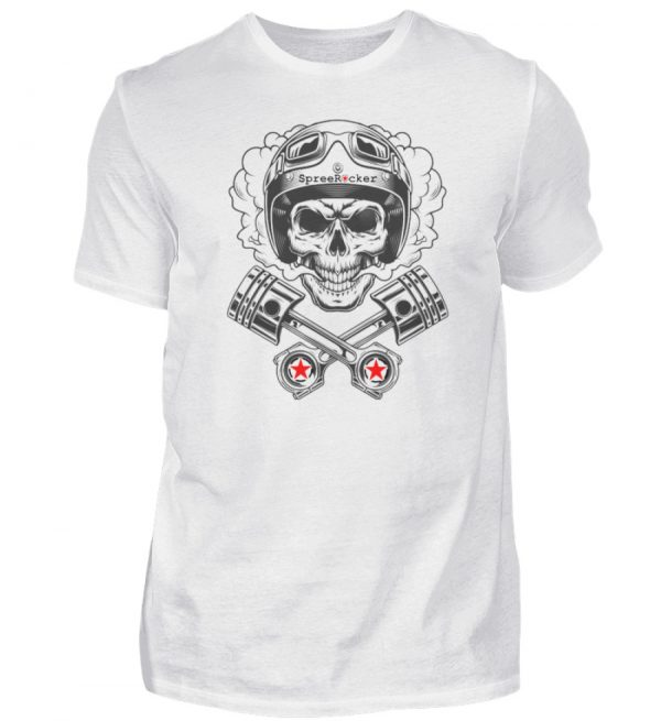 SpreeRocker® - Motorcycle Skull - Herren Shirt-3