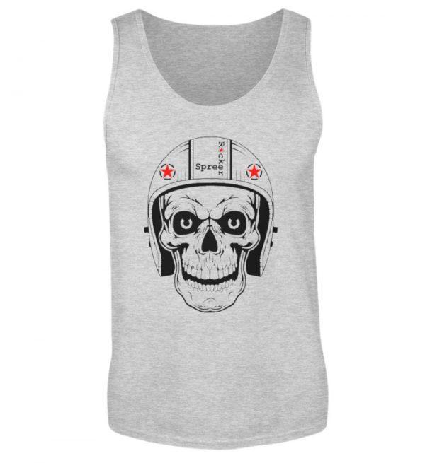 SpreeRocker® - Biker Skull - Herren Tanktop-236