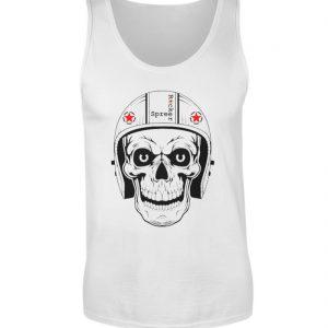 SpreeRocker® - Biker Skull - Herren Tanktop-3