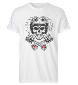 SpreeRocker® - Motorcycle Skull - Herren RollUp Shirt-3