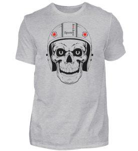 SpreeRocker® - Biker Skull - Herren Shirt-17