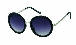 Kost runde schwarz/silberne Sonnenbrille für Frauen (PZ20-064)