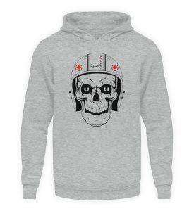 SpreeRocker® - Biker Skull - Unisex Kapuzenpullover Hoodie-6807