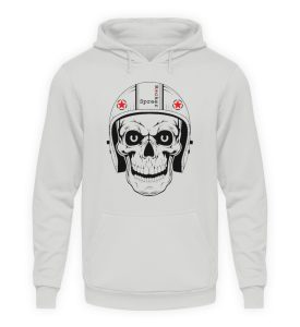 SpreeRocker® - Biker Skull - Unisex Kapuzenpullover Hoodie-23