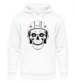 SpreeRocker® - Biker Skull - Unisex Kapuzenpullover Hoodie-1478